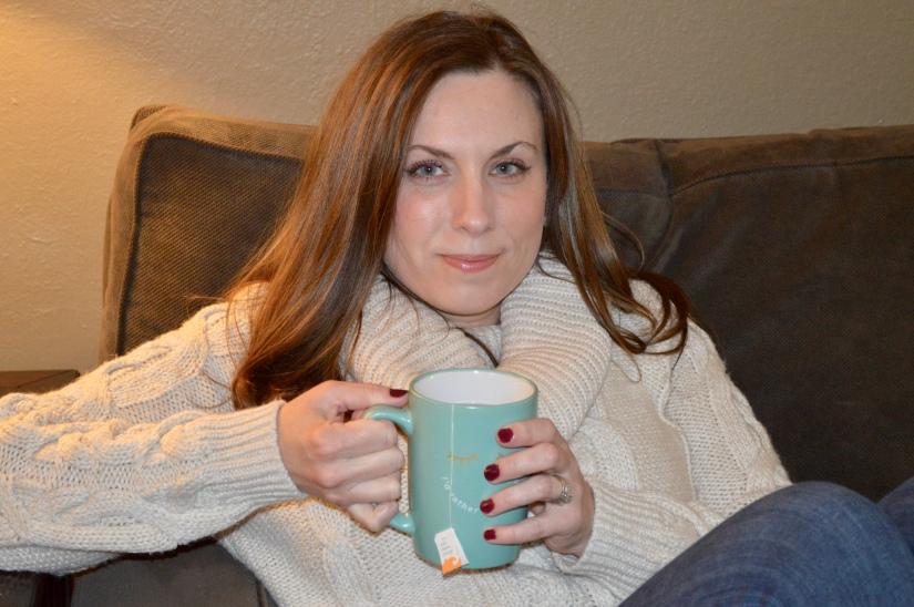 a nice cozy sweater & a cup of tea