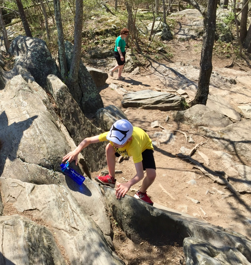Rock climbing at Great Falls, VA