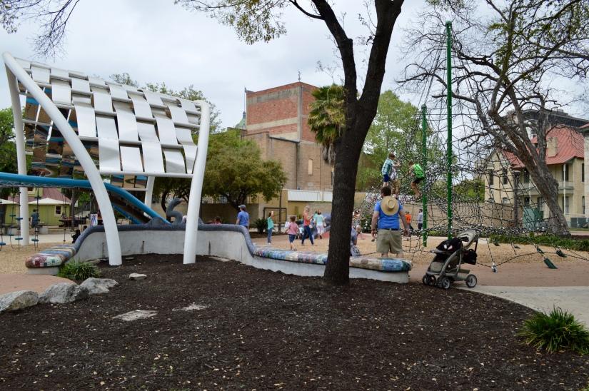 climbing structures at Yanaguana Gardens, San Antonio