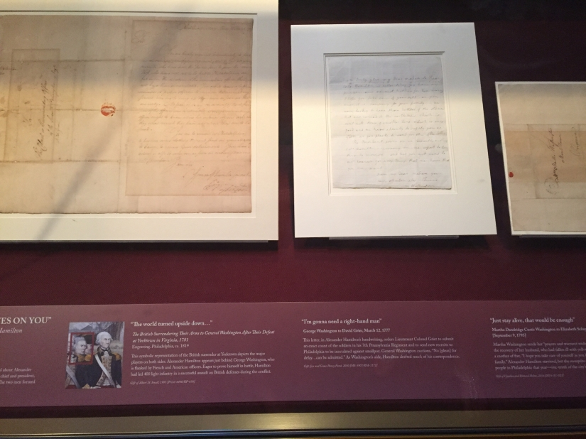 "Washington's Letters featured in ""Hamilton"""